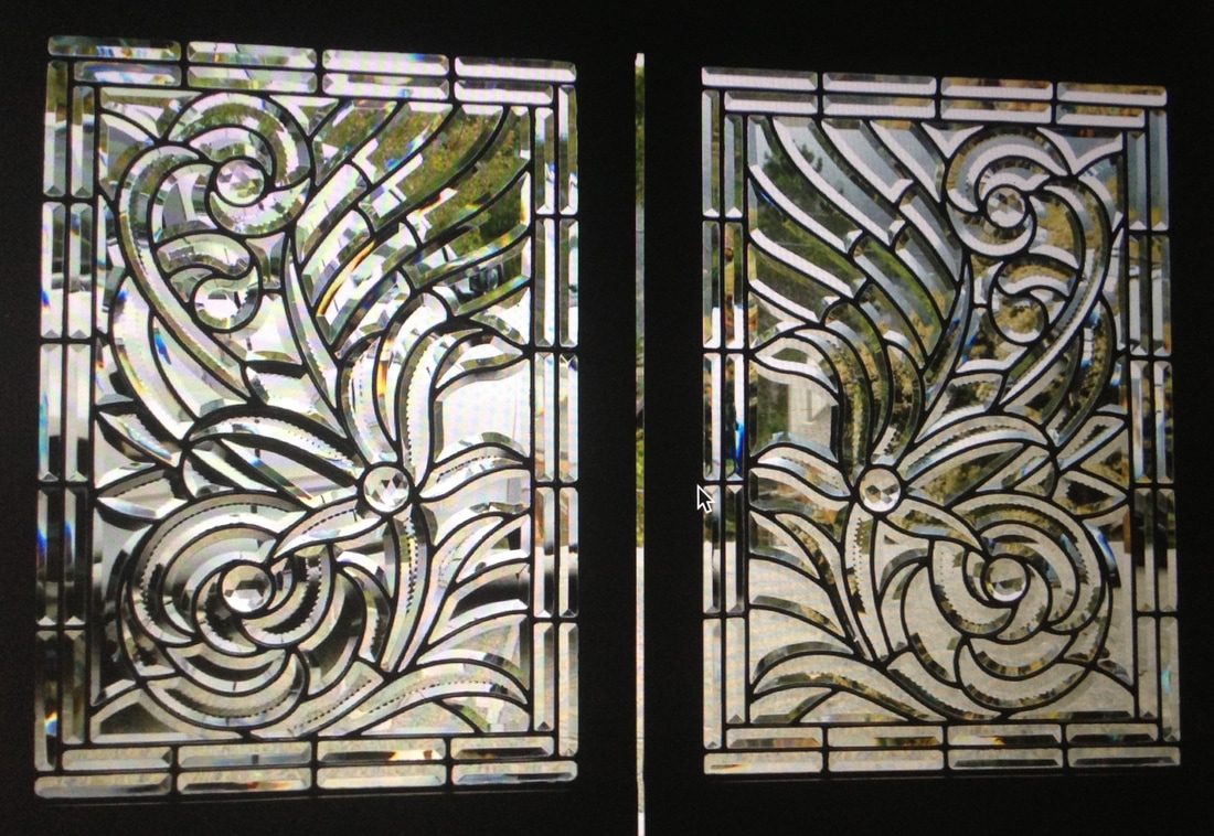 Historical Stained Bevel Glass Windows - Mirrored Bevel Glass
