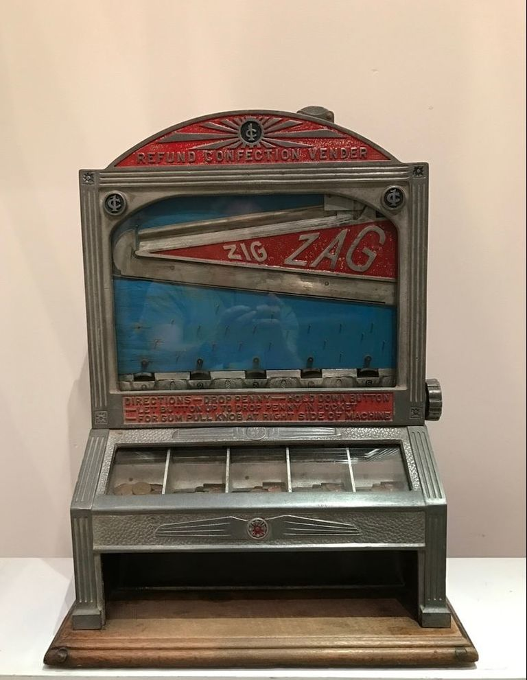 Antique Coin-Operated Machines - Rare Zig Zag Jacks Machine